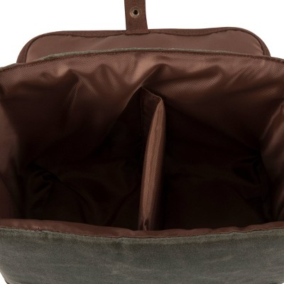 Double Growler Cooler Tote Green/Brown - Picnic Time