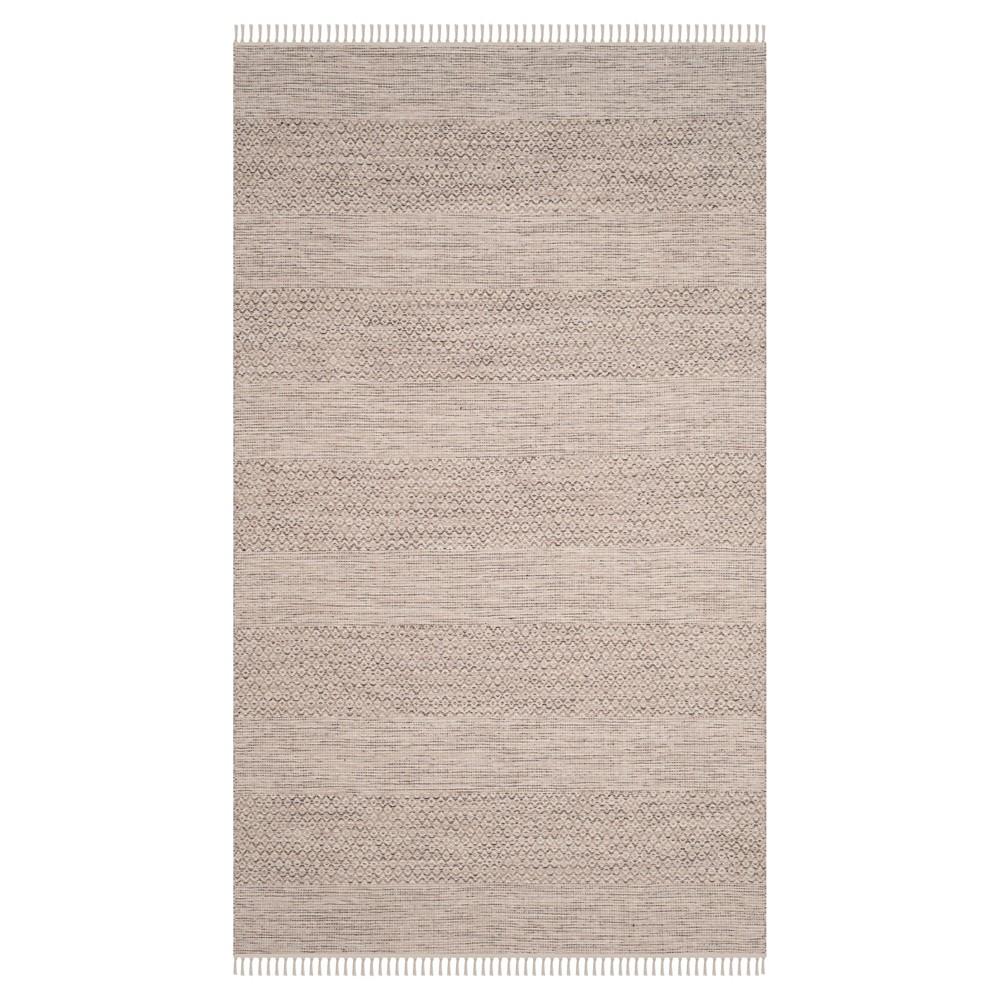 Ivory/Steel Gray Geometric Flatweave Woven Area Rug 5'X8' - Safavieh