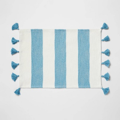 Cotton Preppy Stripe Placemat Blue/White - Opalhouse™
