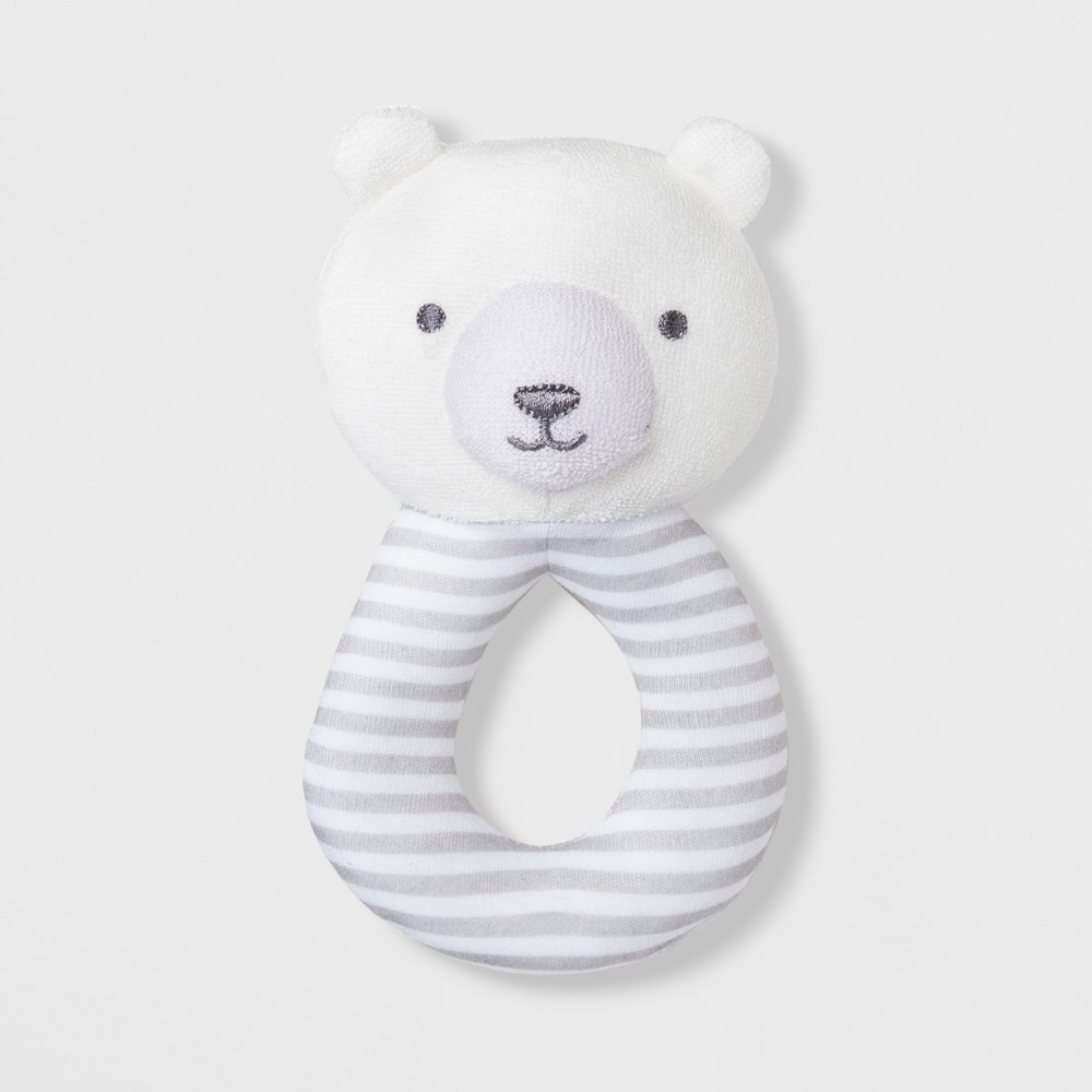 Babys' Bear Loop Rattle - Just One You made by carter's White/Gray