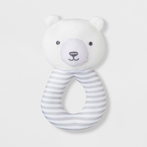 Babys' Bear Loop Rattle - Just One You® made by carter's White/Gray - image 1 of 1