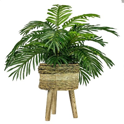 "32"" x 24"" Artificial Palm Plant in Basket Stand - LCG Florals"