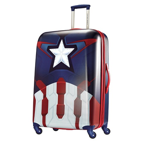 "American Tourister Captain America Hardside Spinner Suitcase - Red/Blue (28"") - image 1 of 8"