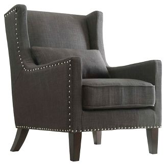 Murray Wingback Arm Chair Dark Gray - Inspire Q
