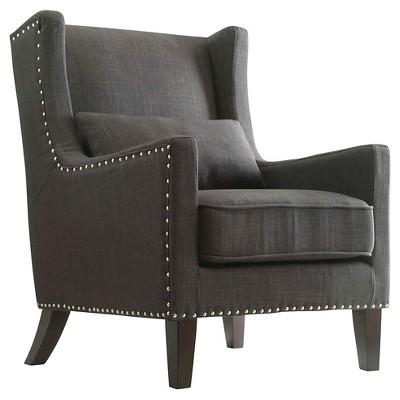 Incroyable Murray Wingback Arm Chair Dark Gray   Inspire Q : Target