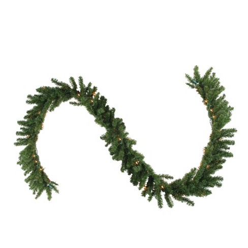 "Northlight 50' x 10"" Prelit Canadian Pine Commercial Artificial Christmas Garland - Clear Lights - image 1 of 3"