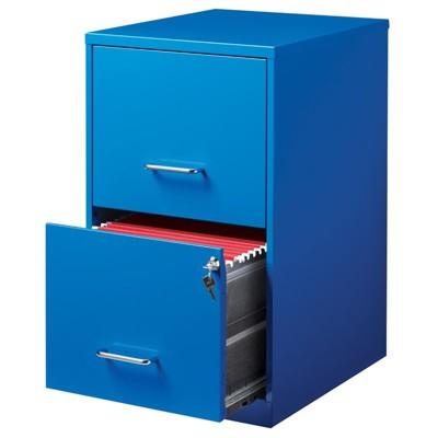 Steel 2 Drawer File Cabinet In Blue Scranton U0026 Co