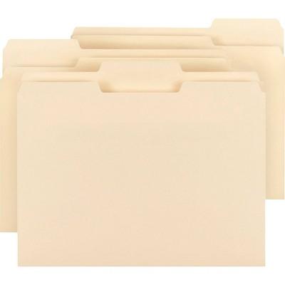 Business Source 150ct 1/3 Cut Tab Plain Manila File Folders