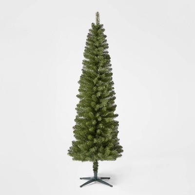 7ft Unlit Slim Alberta Spruce Artificial Christmas Tree - Wondershop™