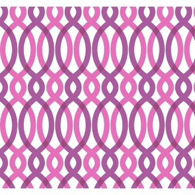 Devine Color Scroll Peel & Stick Wallpaper Pink