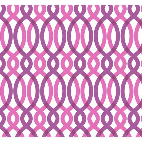 Devine Color Scroll Peel Stick Wallpaper Pink