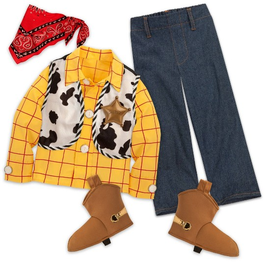 Disney Toy Story Woody Costume - 9/10, Men's, Size: Small, Yellow image number null