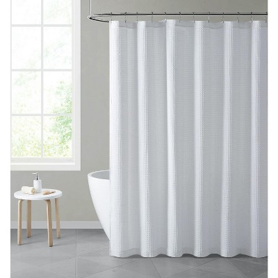 Hotel Collection Premium Waffle Weave Mold & Mildew Resistant Fabric Shower Curtain by Kate Aurora