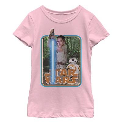 Girl's Star Wars The Force Awakens Rey on Takodana T-Shirt