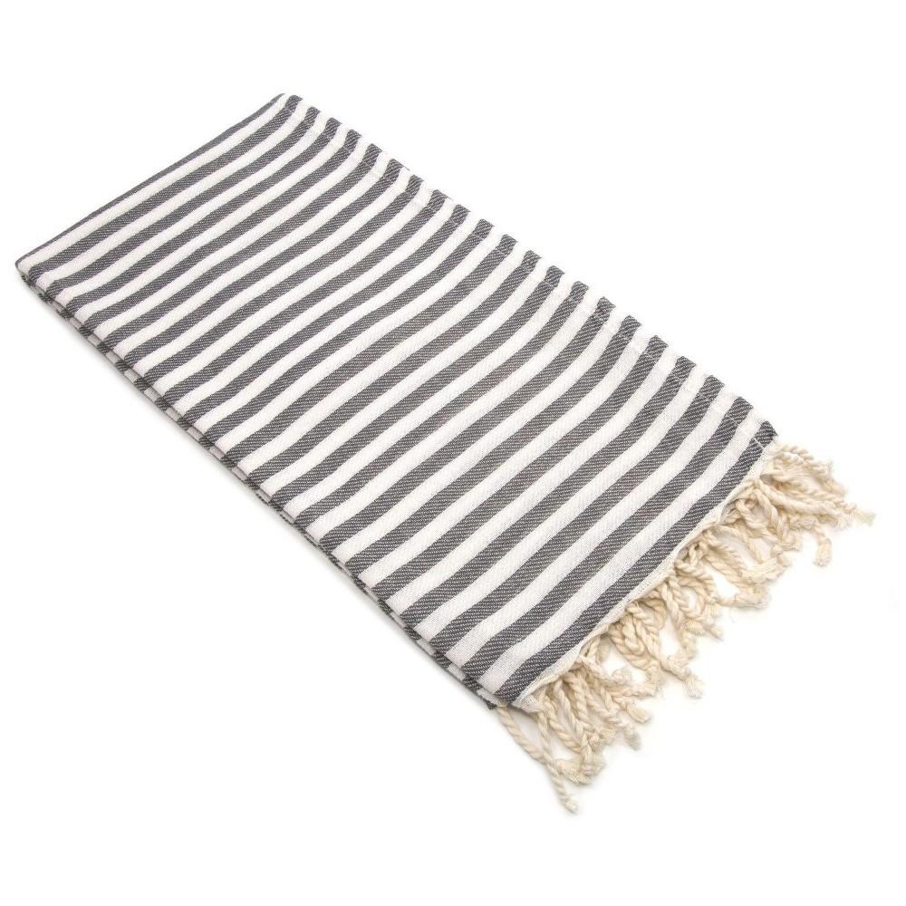 Image of Fun in the Sun Pestemal Beach Towel Graphite (Grey)
