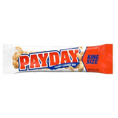 Payday King Size Peanut Caramel Bar - 3.4oz