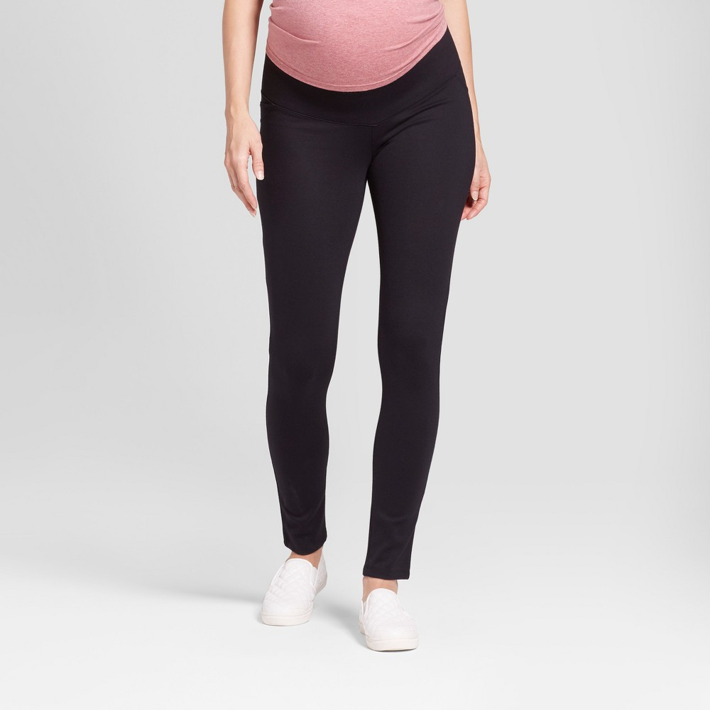 Maternity Inset Panel Ponte Pants - Isabel Maternity by Ingrid & Isabel Black S, Women's