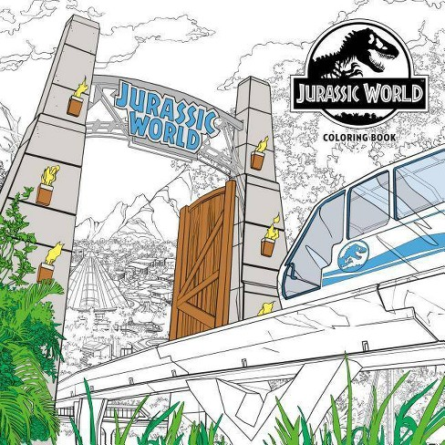 Jurassic World Adult Coloring Book - by  Nbc Universal (Paperback) - image 1 of 1