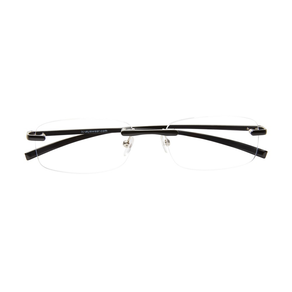 Icu Stanford Rimless Black Reading Glasses