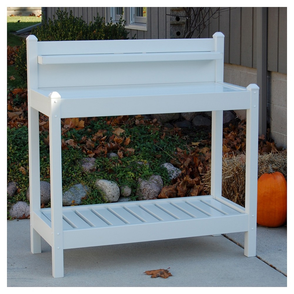 Image of 49 Greenfield Potting Bench - White - Dura-Trel