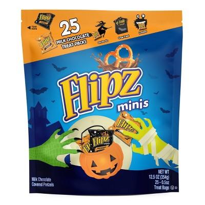 Flipz Minis Chocolate Covered Pretzels Treat Bags - 25ct