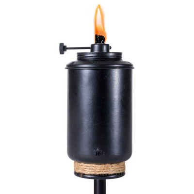 "65"" Adjustable Flame Patio Torch Resin Black - TIKI"
