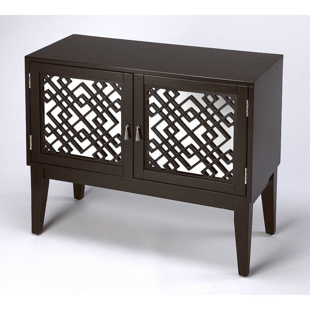 Ursula Mirrored Console Cabinet Brown - Butler Specialty