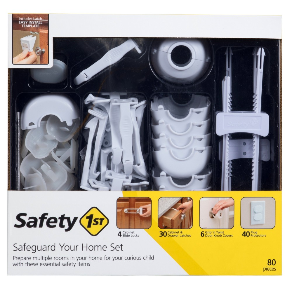 Image of Safety 1st Home Safeguarding Set - 80pc, White