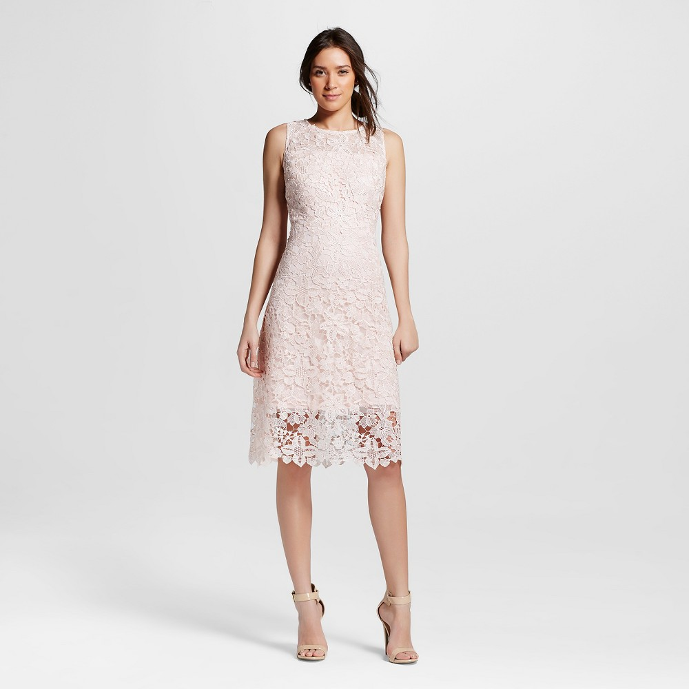 Women's Lace Sheath Dress Rose 6 - Julia, Paradise Pink