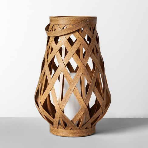 Rattan Outdoor Lantern LED Candle Natural - Opalhouse™ - image 1 of 4