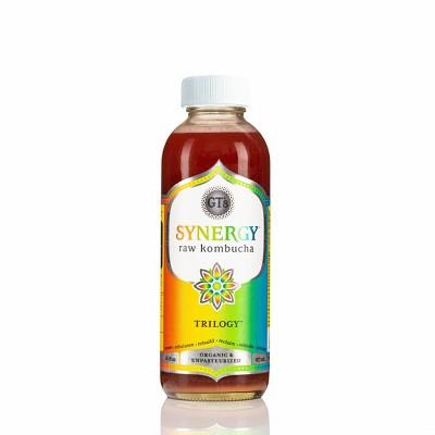 G.T.'s Synergy Trilogy Organic Vegan Raw Kombucha - 16 fl oz Bottle