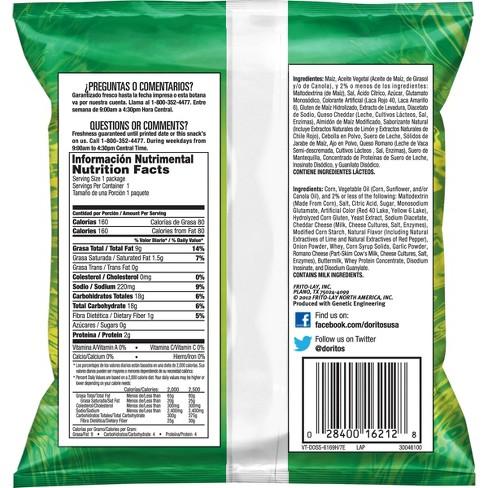Doritos Dinamita Chili Limon Rolled Tortilla Chips - 1 125oz