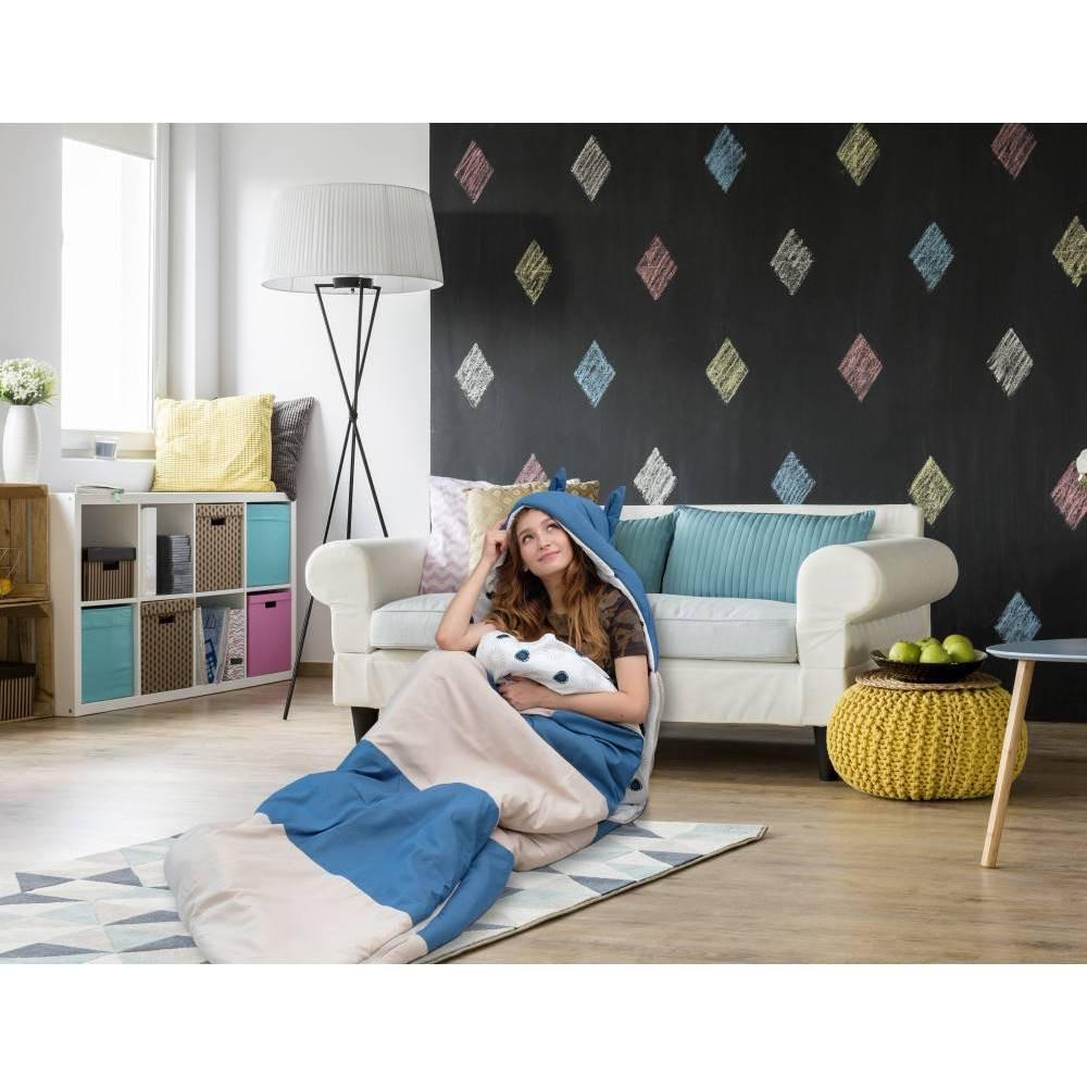Twin Xl Holger Sleeping Bag Beige Teal Chic Home Design