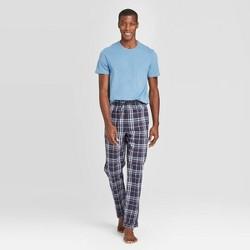 Men's Plaid Knit Pajama Set - Goodfellow & Co™ Blue