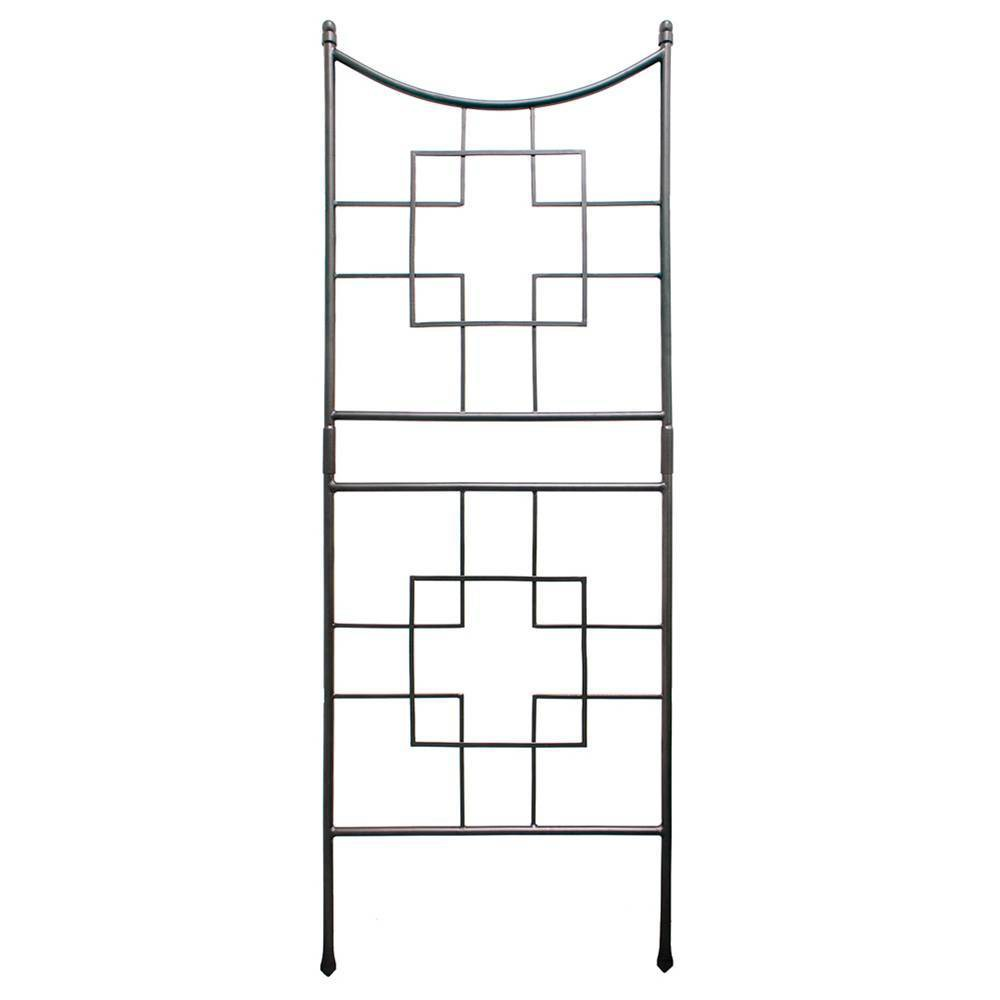 86 34 Tall Iron Squares On Squares Modern Garden Graphite Powder Coat Finish Achla Designs
