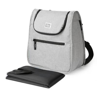Fulton Bag Co. Expandable Messenger Backpack Diaper Bag - Gray
