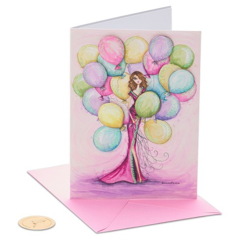 Papyrus Girl With Balloons Birthday Card Target