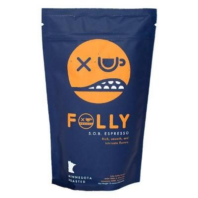 Folly Coffee Espresso Whole Bean Dark Roast Coffee - 12oz