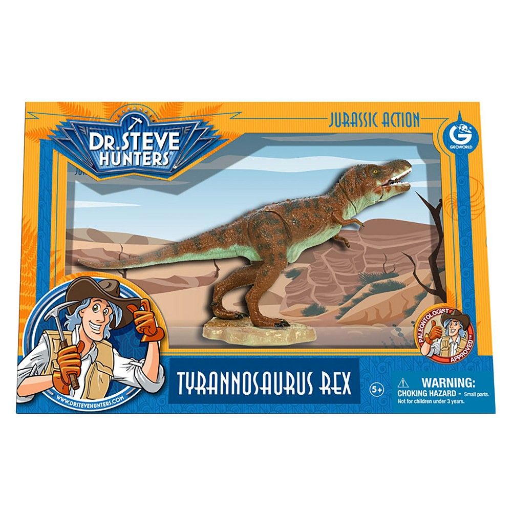 Geoworld Dr. Steve Hunters Medium Jurassic Action T. Rex