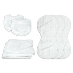 green sprouts Organic Cotton Muslin New Born Gift 7pc set White