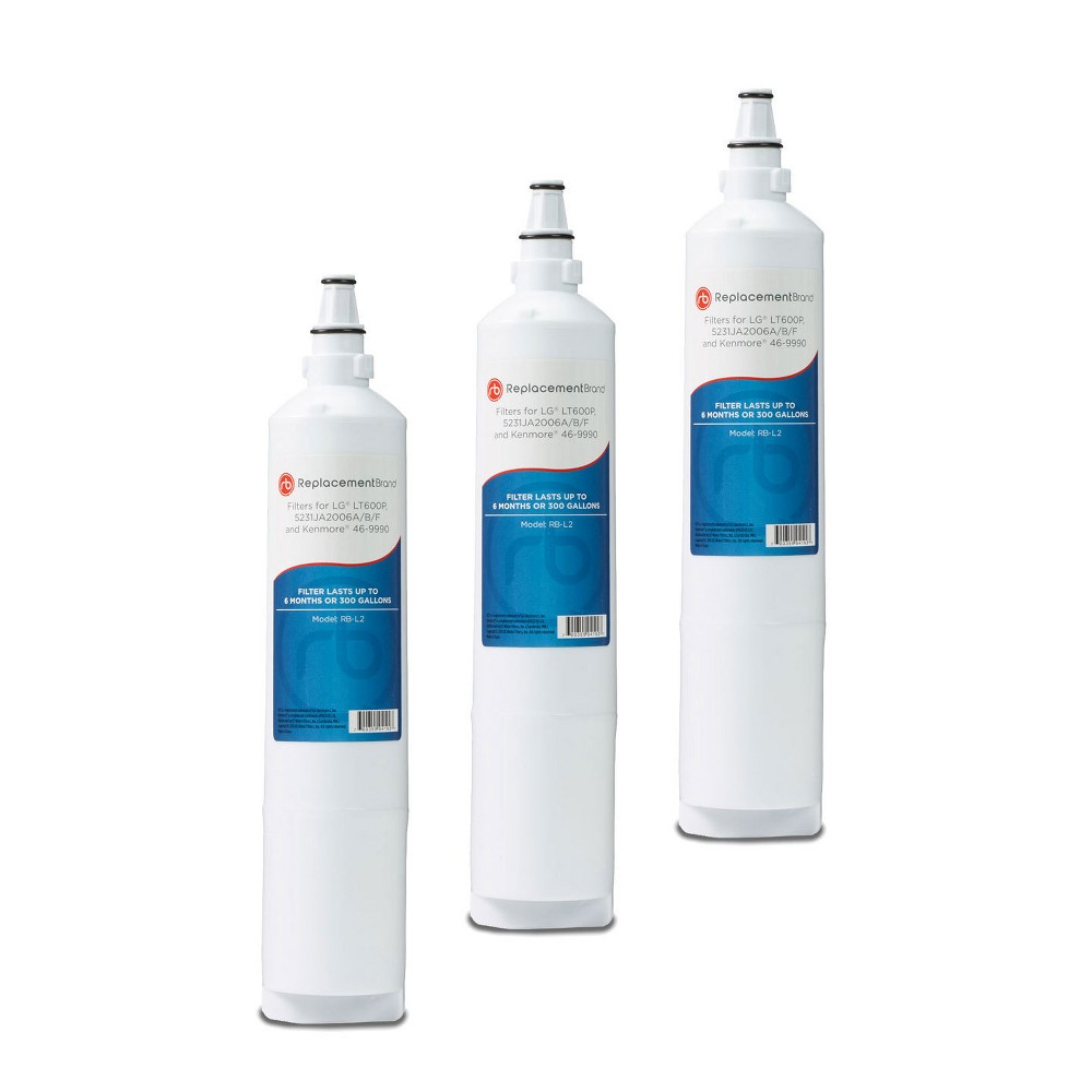 LG LT600P Comparable Refrigerator Water Filter (3pk), White
