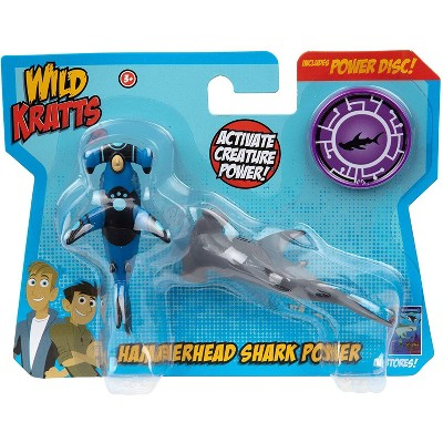 Jazwares Wild Kratts Creature Power Action Figure Toys - Hammerhead Shark Power, Set of 2