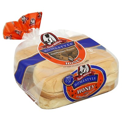 Aunt Millie's Honey Wheat  Hamburger Buns - 17oz