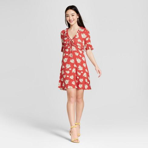 3179b7cc91cb Women s Floral Print Ruffle Sleeve Dress - Soul Cak   Target