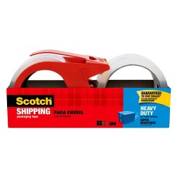 Scotch Shipping Tape with Dispenser, Heavy Duty, 2pk