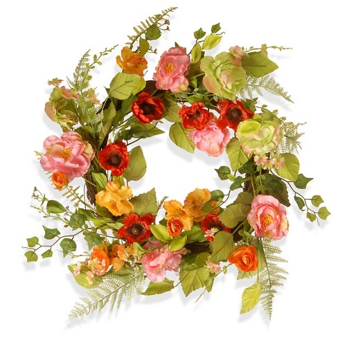 Spring flower wreath 22 target about this item mightylinksfo