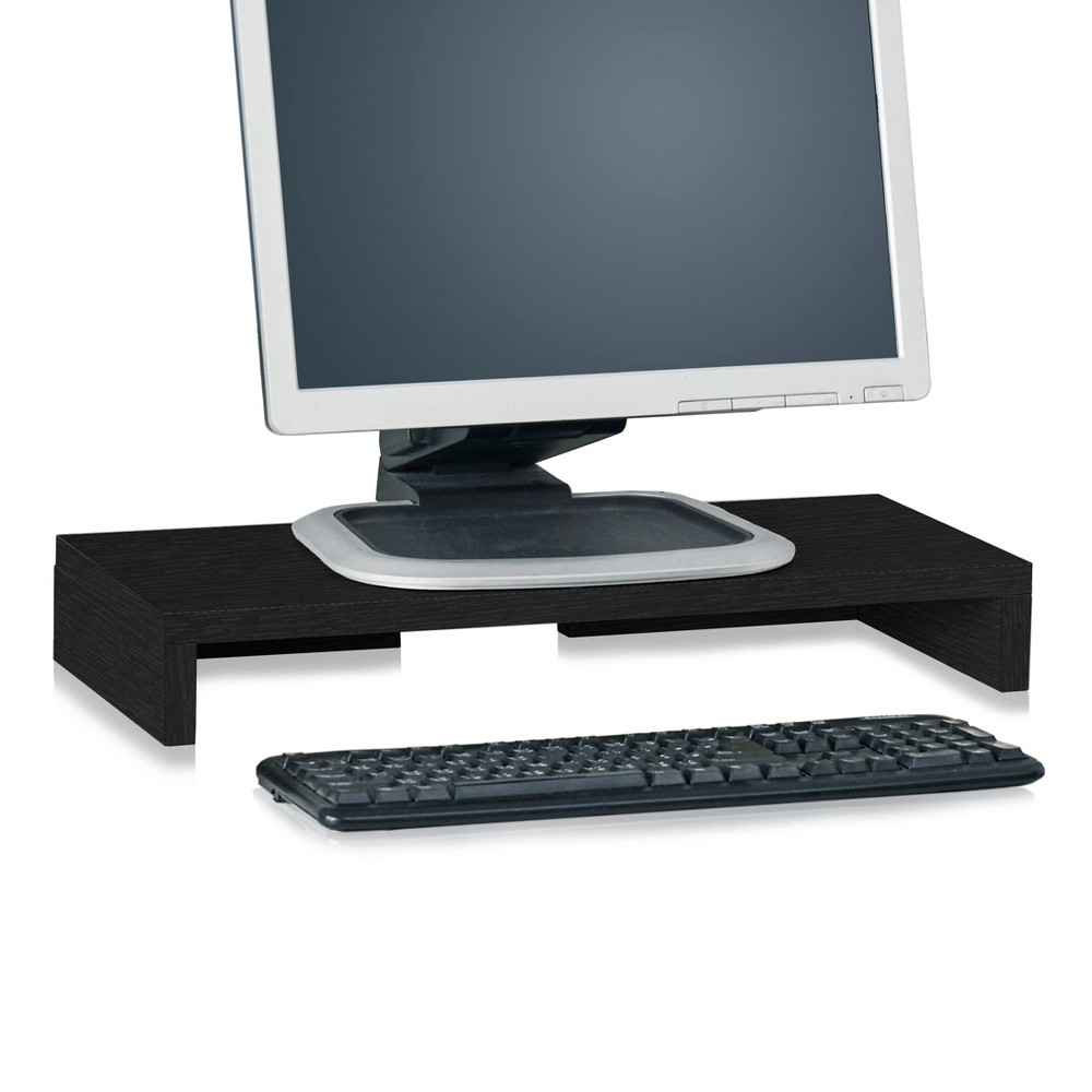 Eco Friendly Computer Monitor Stand Riser, Black - Lifetime Guarantee