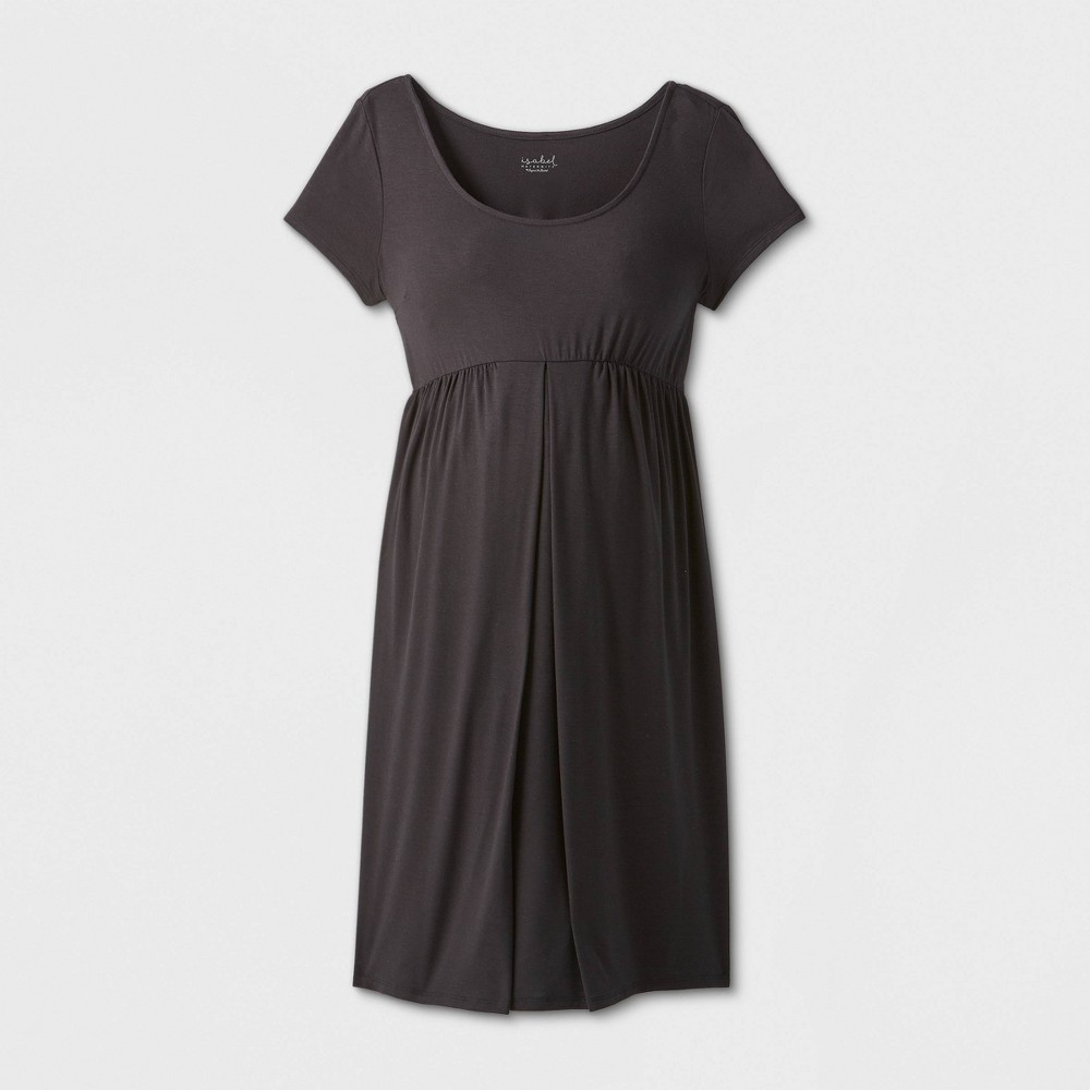 Maternity Short Sleeve A-Line T-Shirt Dress - Isabel Maternity by Ingrid & Isabel Black XS was $24.99 now $10.0 (60.0% off)