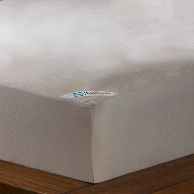 Sealy Posturepedic Maximum Allergy Protection Waterproof Zippered Mattress Protector - White (Queen)