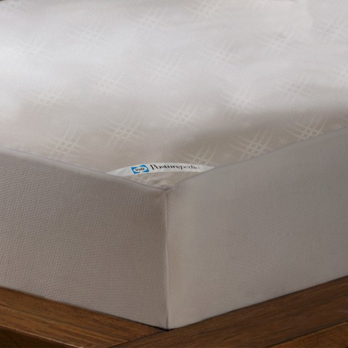 Sealy Posturepedic Maximum Allergy Protection Waterproof Zippered Mattress Protector - White - image 1 of 3